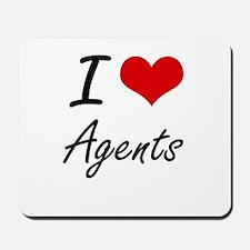I Love Agents Artistic Design Mousepad