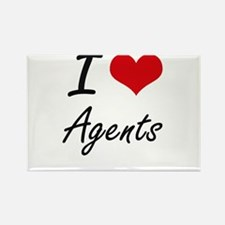 I Love Agents Artistic Design Magnets