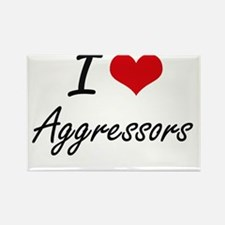 I Love Aggressors Artistic Design Magnets