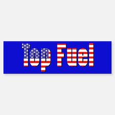 Patriotic Top Fuel Bumper Bumper Bumper Sticker