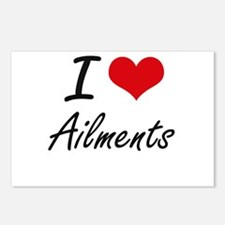 I Love Ailments Artistic Postcards (Package of 8)