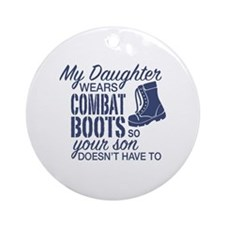 Cute Navy parents Round Ornament