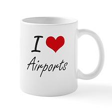 I Love Airports Artistic Design Mugs