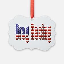 Patriotic Drag Racing Ornament