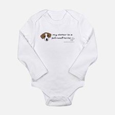 Cute Big sister dog Long Sleeve Infant Bodysuit
