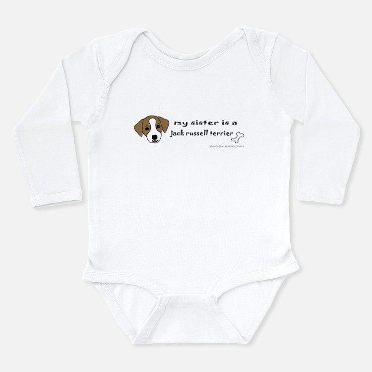 Cute Jack russell terrier Long Sleeve Infant Bodysuit