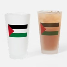 The Palestinian flag Drinking Glass