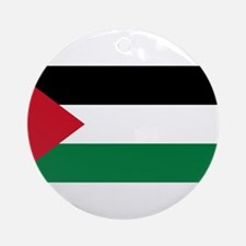 The Palestinian flag Round Ornament