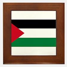 The Palestinian flag Framed Tile