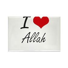 I Love Allah Artistic Design Magnets