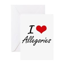 I Love Allegories Artistic Design Greeting Cards