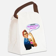 Rosie Fighting Cancer Design Canvas Lunch Bag