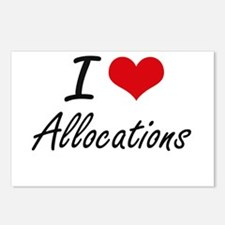 I Love Allocations Artist Postcards (Package of 8)