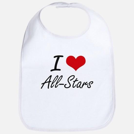 I Love All-Stars Artistic Design Bib