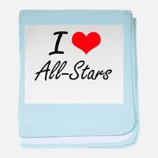 I Love All-Stars Artistic Design baby blanket