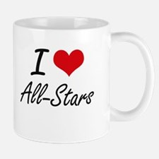 I Love All-Stars Artistic Design Mugs