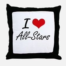 I Love All-Stars Artistic Design Throw Pillow