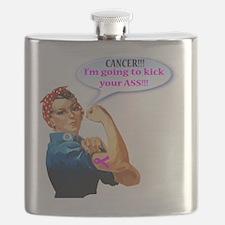 Rosie Fighting Cancer Design Flask