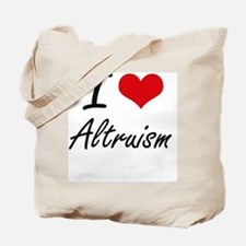 I Love Altruism Artistic Design Tote Bag