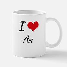 I Love Am Artistic Design Mugs