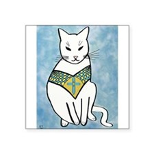 Cat with Cross Sticker