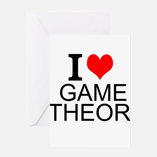 I Love Game Theory Greeting Cards