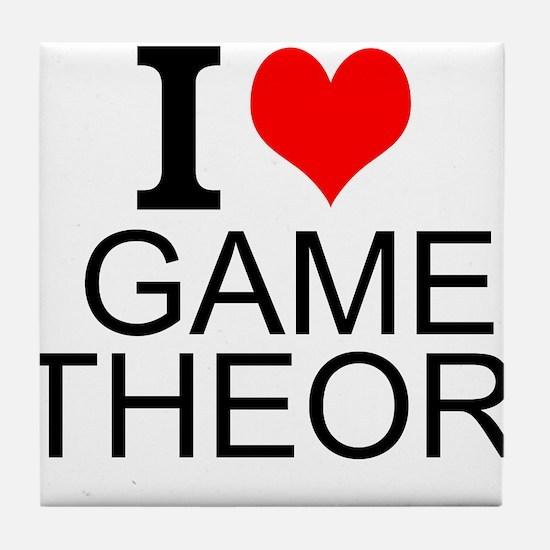 I Love Game Theory Tile Coaster