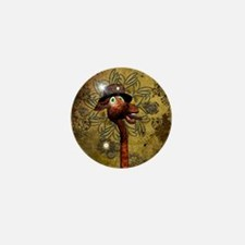Steampunk, funny giraffe Mini Button