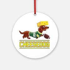 Cheesedog 2 (Dachshund) Round Ornament