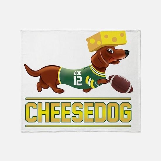 Cheesedog 2 (Dachshund) Throw Blanket