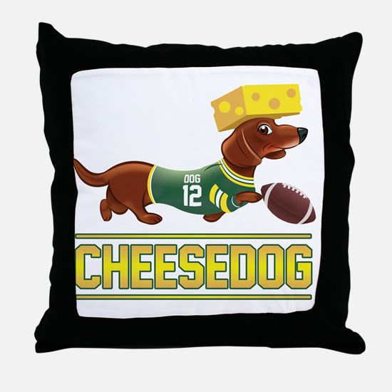 Cheesedog 2 (Dachshund) Throw Pillow
