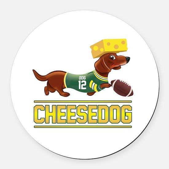 Cheesedog 2 (Dachshund) Round Car Magnet