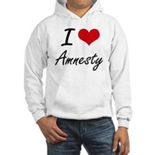 I Love Amnesty Artistic Design Hoodie