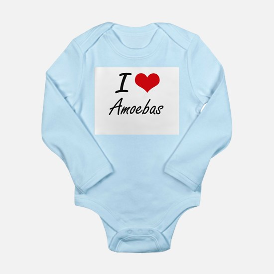 I Love Amoebas Artistic Design Body Suit