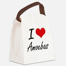 I Love Amoebas Artistic Design Canvas Lunch Bag