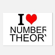 I Love Number Theory Postcards (Package of 8)