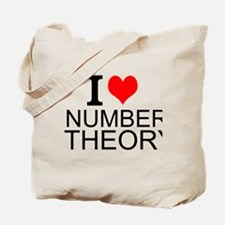 I Love Number Theory Tote Bag