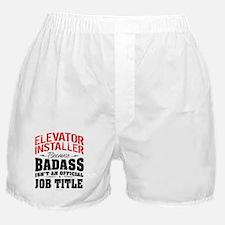 Badass Elevator Installer Boxer Shorts