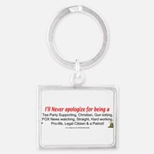 Funny Right wing Landscape Keychain