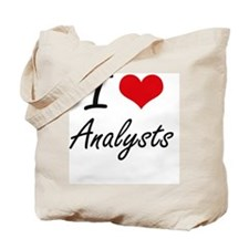 I Love Analysts Artistic Design Tote Bag