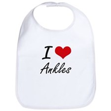 I Love Ankles Artistic Design Bib