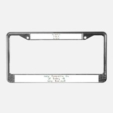 Funny Stunts License Plate Frame