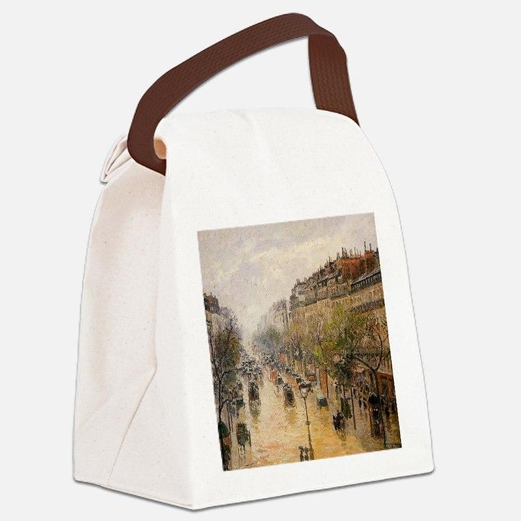 Camille Pissarro - Boulevard Mont Canvas Lunch Bag