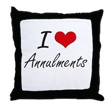 I Love Annulments Artistic Design Throw Pillow