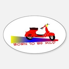Born To Be Mild Oval Decal