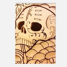 Chicano skull Postcards (Package of 8)