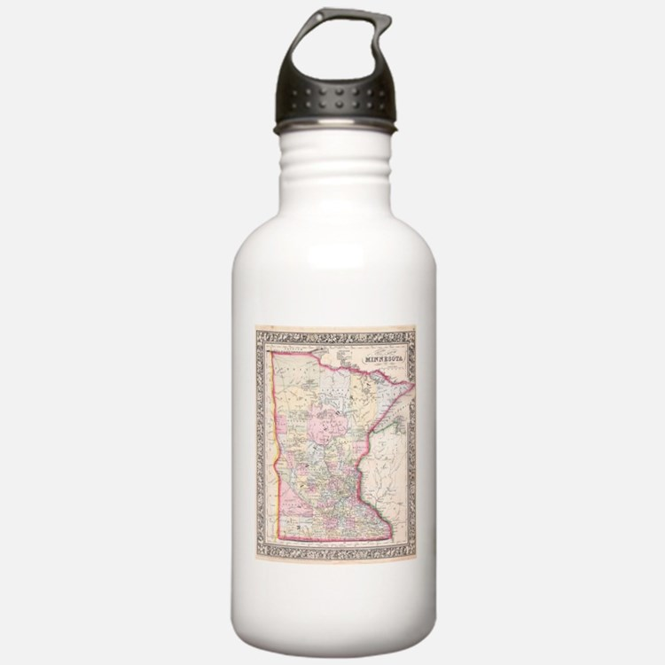 Vintage Map of Minneso Water Bottle