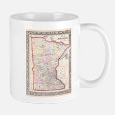 Vintage Map of Minnesota (1864) Mugs