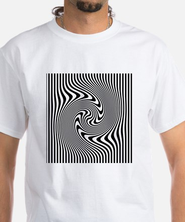 Black and White Op Art Design T-Shirt