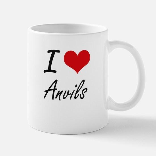 I Love Anvils Artistic Design Mugs